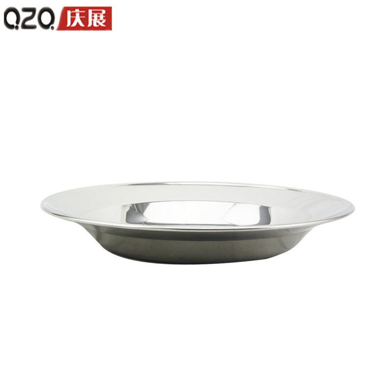 [Supermarket] lynx celebrate exhibition grade 22cm thick quality stainless steel dish cold dish dish/fruit plate/ Dessert dish
