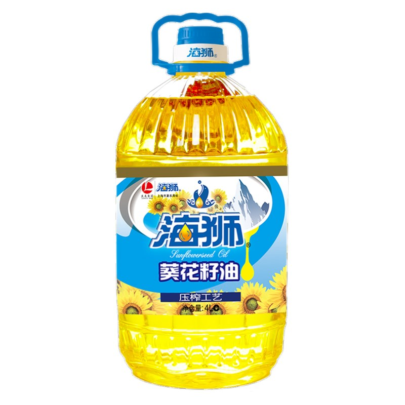 [Supermarket] lynx sea lions sunflower oil 4l edible oil crushing brand guarantee