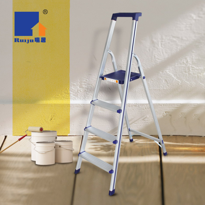 Swiss home tools sided collapsible ladder thicker aluminum folding ladder