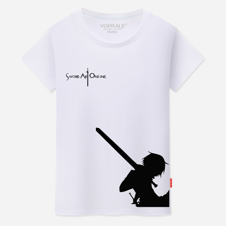 Sword art online sao kazuto animation around clothes t shirt round neck short sleeve summer male and female models big yards students