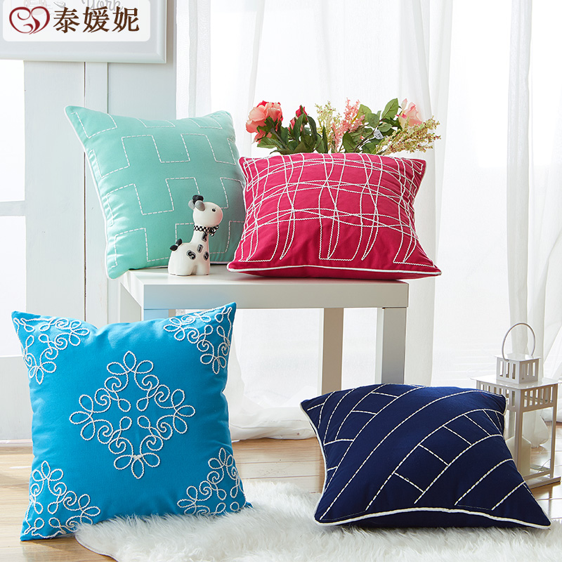 Tai yuan ni american minimalist waist cushion covers pillow nap pillow cushion sofa cushion covers
