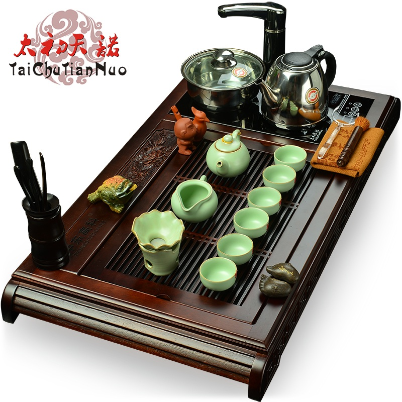 Taichu sentinel ru four cooker wood tea tray tea sets tea tray entire kung fu tea yixing tea set