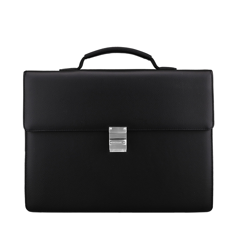 Taipan montblanc montblanc men soft leather grain pattern series of black single intercalations briefcase 113297