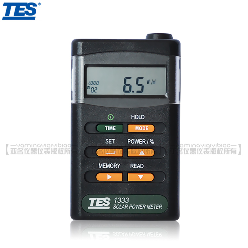 Taiwan taishi tes-1333 solar power meter can be accessed by computer solar TES-1333R optical power meter
