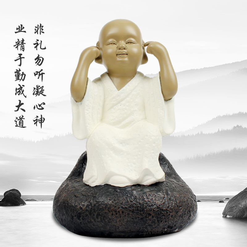 Taiwan zen tea blindly modern iron pills stone carving craft ornaments modern home decorations upscale business gifts