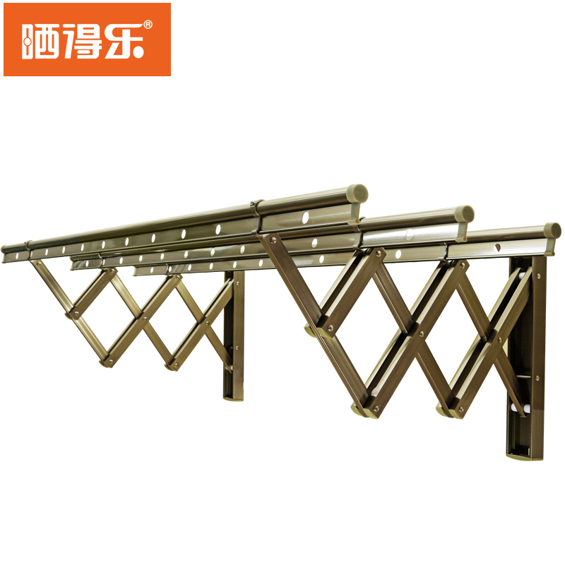 Tan music outdoor balcony outdoor retractable drying racks clothesline pole aluminum sliding folding drying rack is