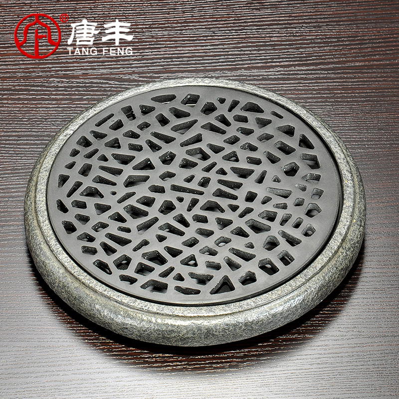 Tang feng hollow design of the ukrainian natural stone stone tea tray stone black stone tea sets tea sea tea sets drainage TF-3990