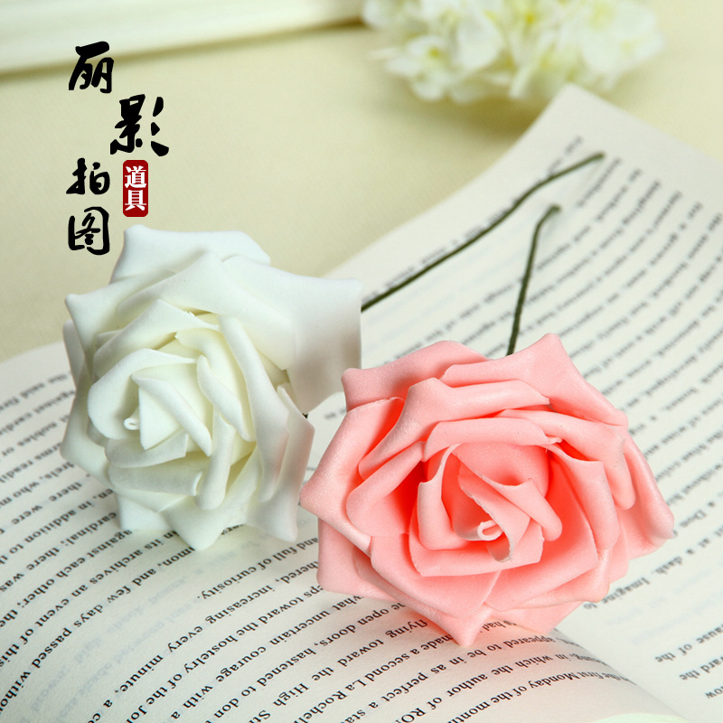 Taobao photography props props flower foam roses swing two shooting still life props props photographed korean cosmetics