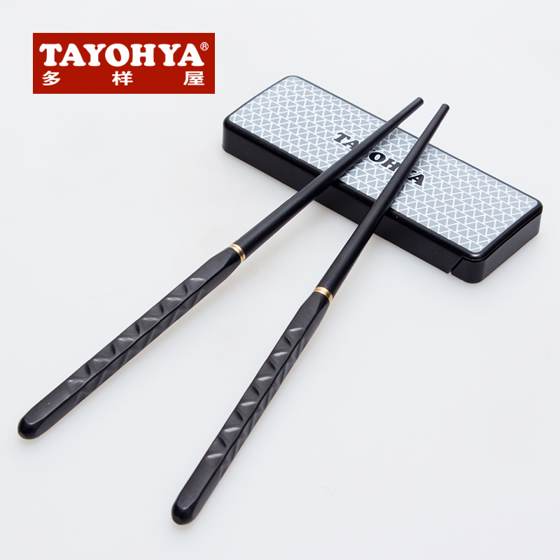 Tayohya diverse housing genuine portable outdoor travel cutlery portable chopsticks loaded single and double carry loaded