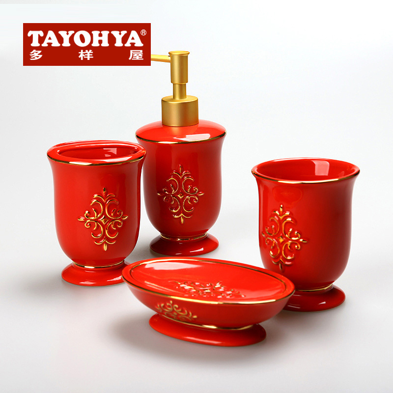 Tayohya/diverse housing xiyingmen ceramic sanitary ware family of four gift suite bathroom wash lutetium phnom penh