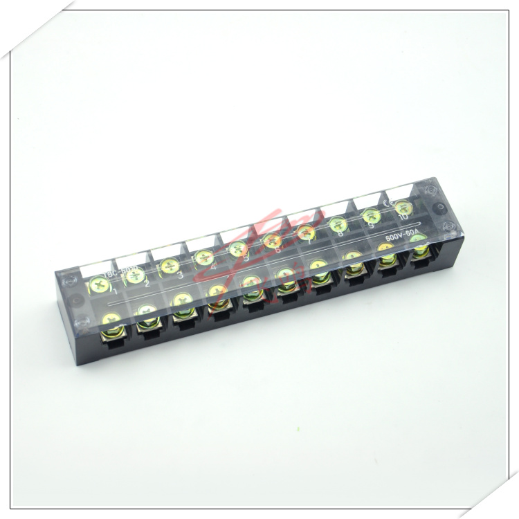 TBC-6010 terminal blocks 60a/10 bit magnetic-optical TB-6010 wiring board terminal connector copper