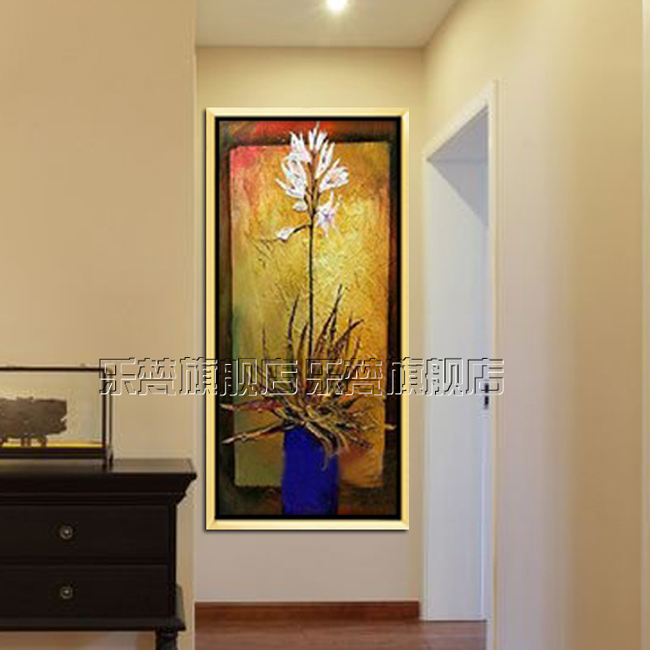 Teacher's day gift bump texture painting framed painting flowers painting the living room painted oil painting flower painting rich flowers
