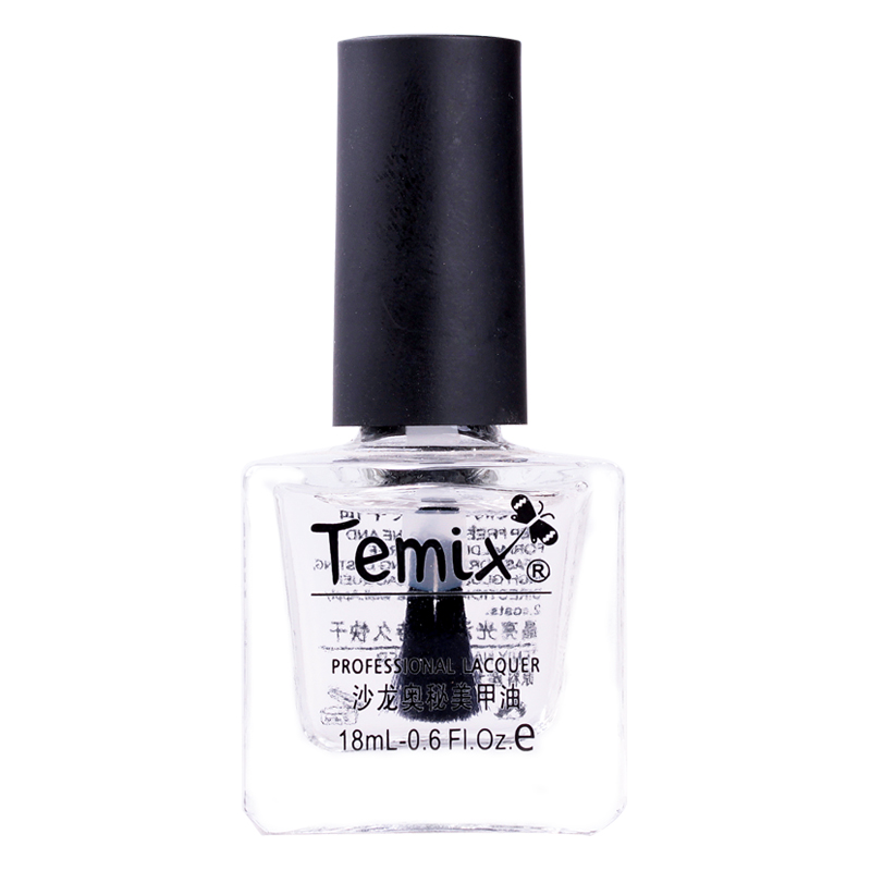 Temix yellowing varnish high gloss transparent armor oil nail polish nail care beauty a product of transparent light oil