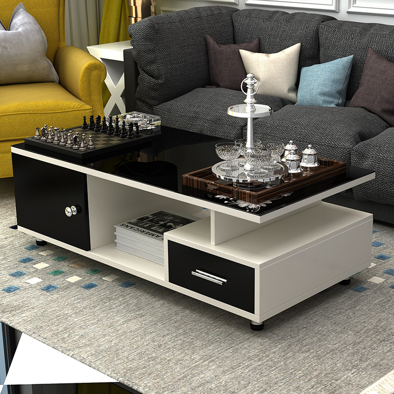 Tempered glass coffee table modern minimalist european coffee table coffee table ideas small apartment living room coffee table tea table small square table