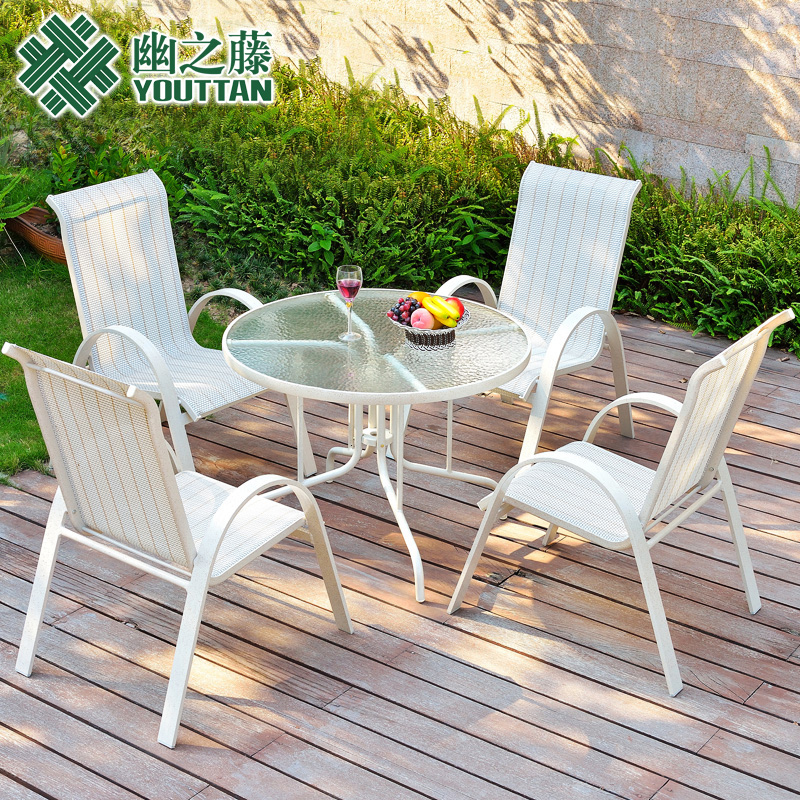 Teng secluded outdoor wrought iron coffee bar balcony patio garden outdoor furniture rattan chairs leisure furniture