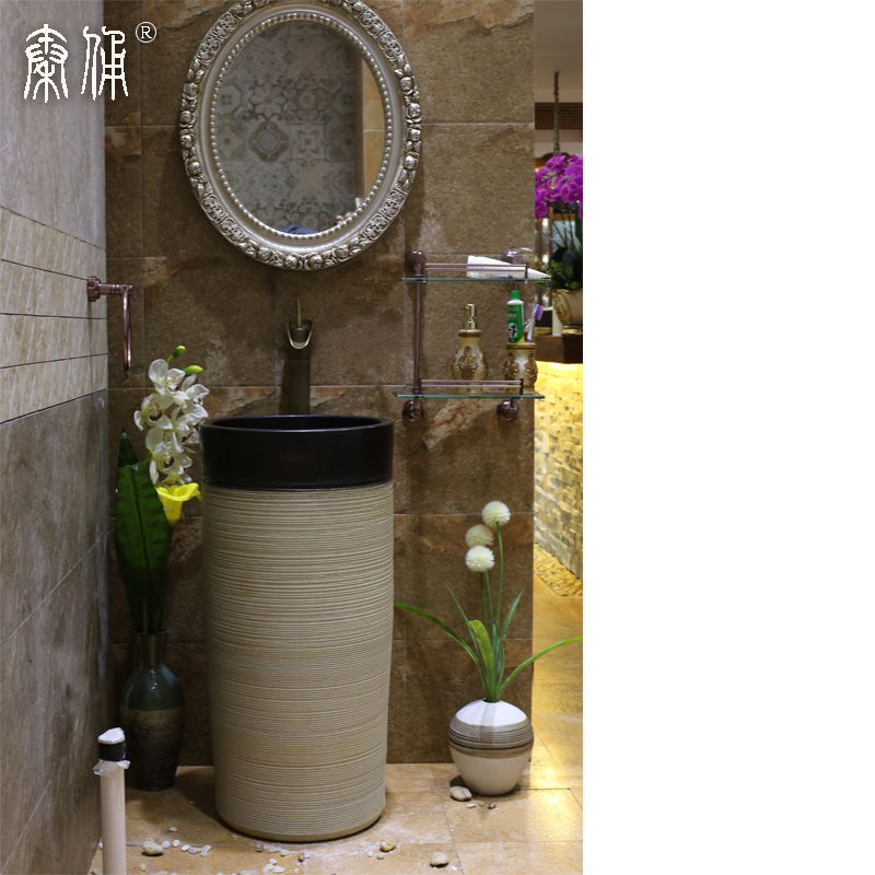 Terracotta warrior pedestal washbasin pedestal basin pedestal basin art basin bathroom ceramic wash basin combination of one of the