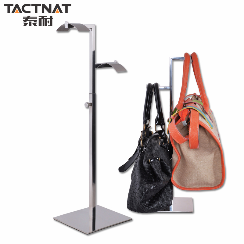 Thai resistant stainless steel prop counter floor bag bag display rack display rack handbag display shelves