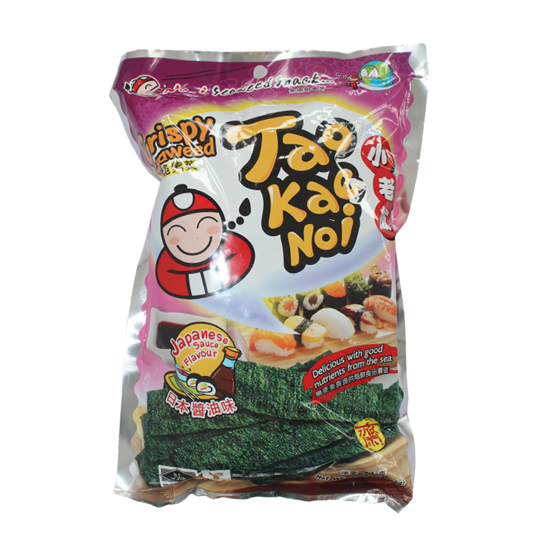 Thailand imported small business owners roasted seaweed/nori seaweed japanese soy sauce flavor 36g imported snacks
