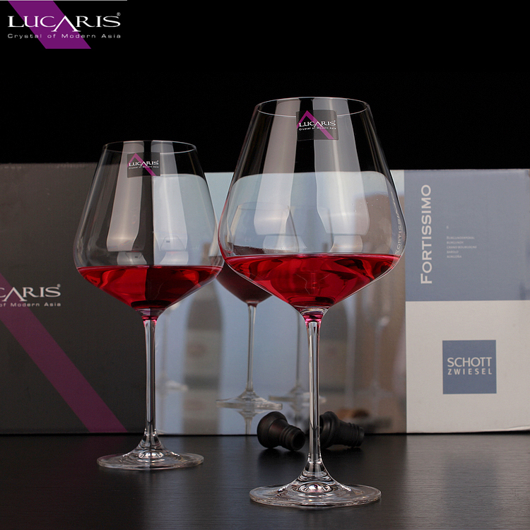 Thailand lucaris imported crystal cup holder to send large wine glass of burgundy wine glass goblet of red wine