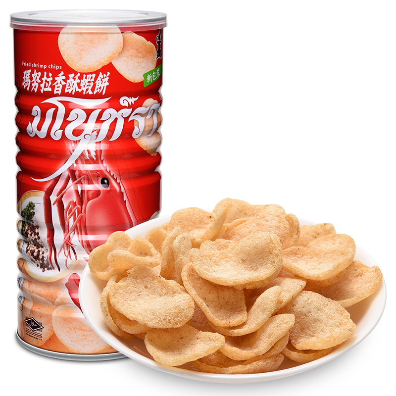 Thailand manu la 100g2 cassava slices specialty cans carel us shrimp flavor zero food imported biscuits fewerproteinsand