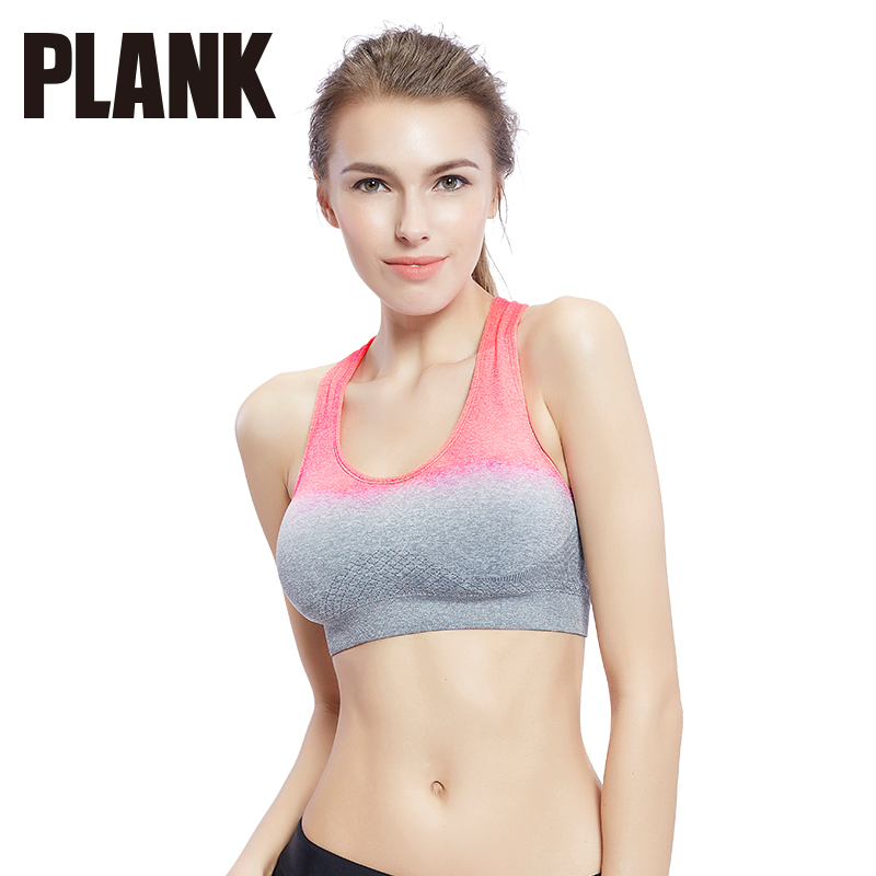 Than thin plank gradient shockproof sports underwear women without rims running yoga vest sports bra chest pad
