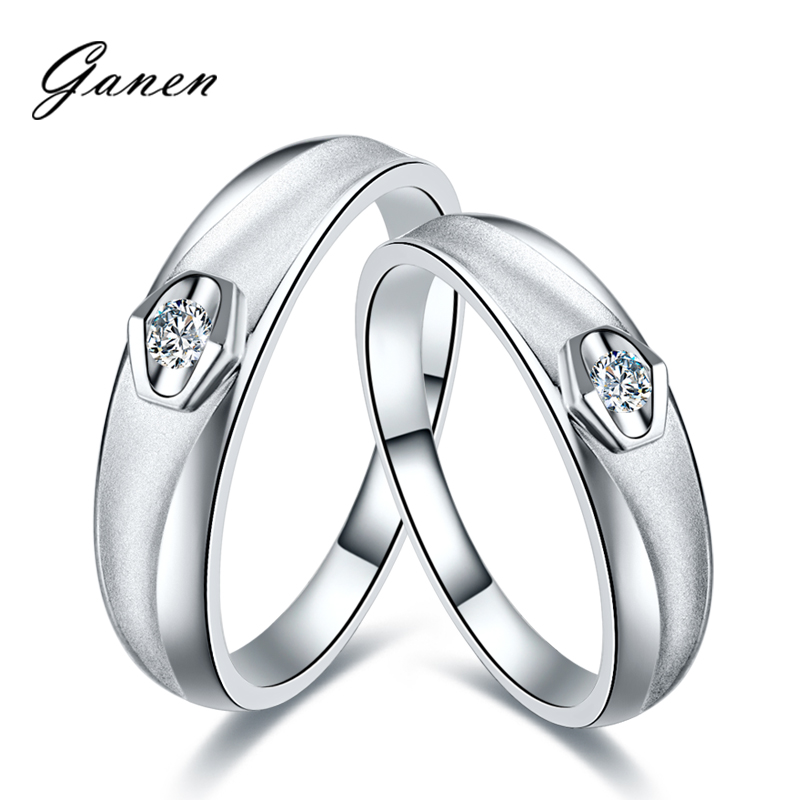 Thanksgiving counterparts k white gold diamond engagement wedding ring platinum wedding ring on the ring couple rings for men and women