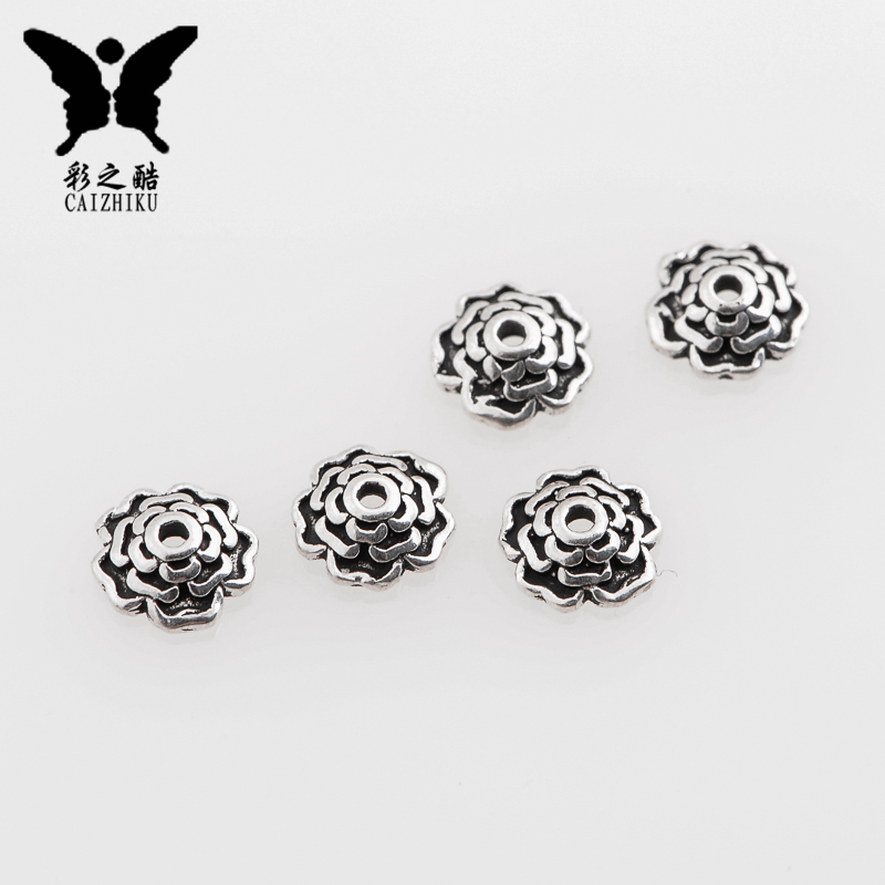 The cool color-925 silver flower ventotene spacer xingyue bodhi accessories diy accessories small jewelry bracelet