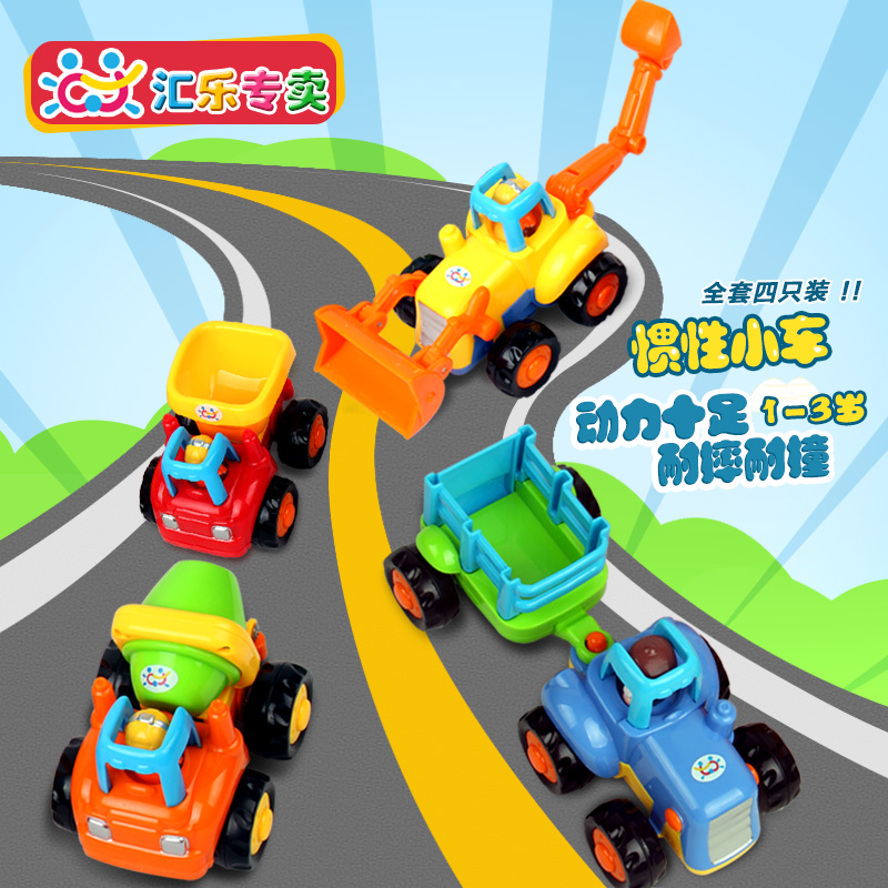 The department of music inertia mixer truck excavator bulldozer baby and young children's toy car sliding car