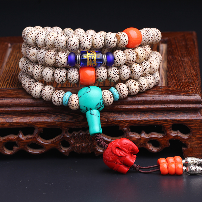 The essence of the man playing xingyue bodhi beads bracelets 108é¢lunar January full moon pu tizi bracelet couple 6*8mm