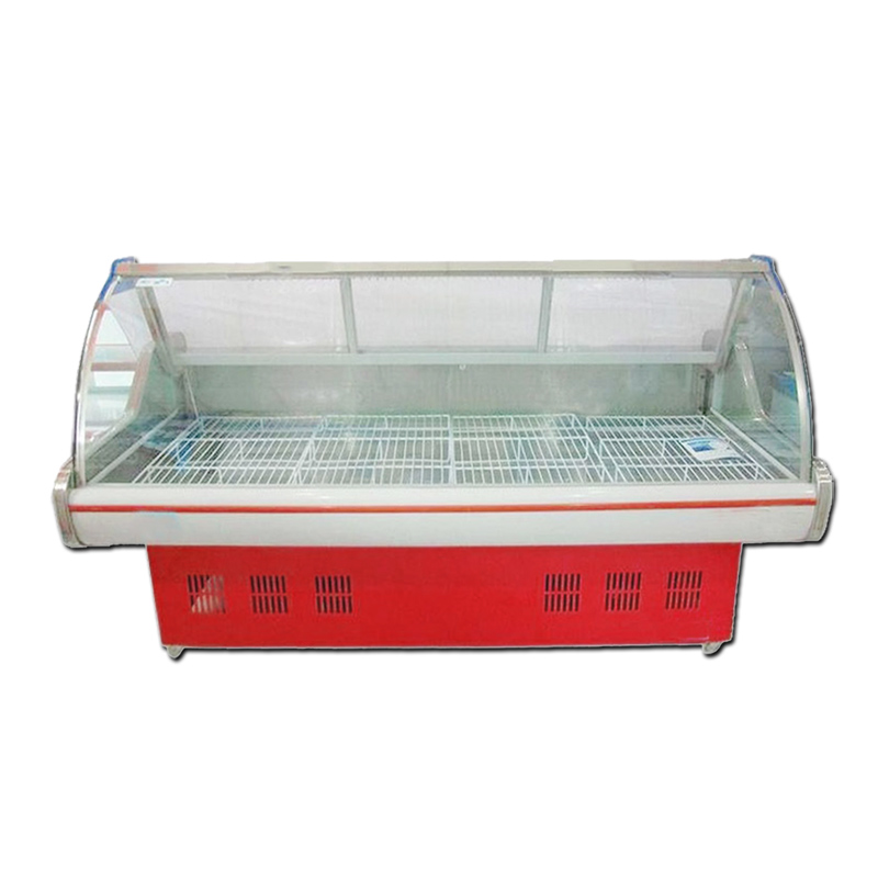 The first kitchen meat 1.8 m freezer fresh cabinet deli counter glass display cabinets commercial refrigerated meat locker