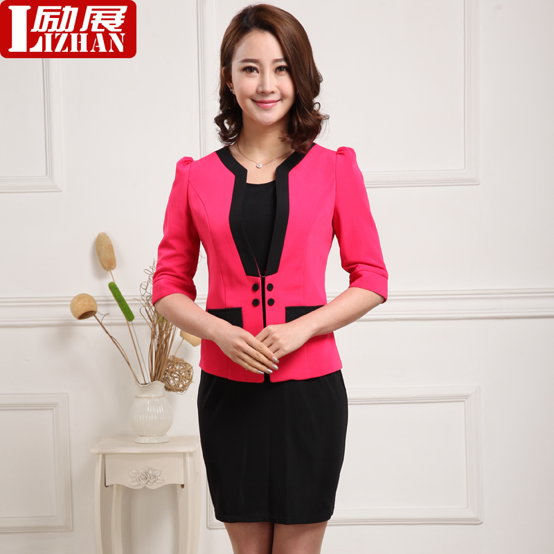The hotel manager sleeved overalls suit hotel reception lobby manager xia season new women wear