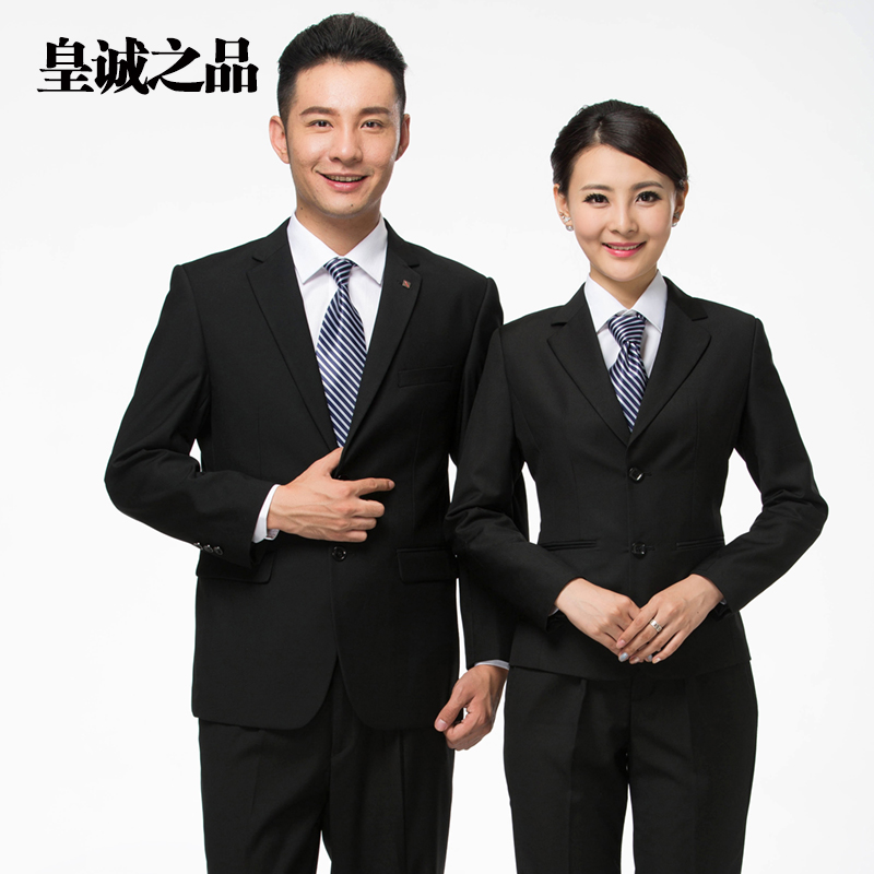 The hotel reception lobby manager overalls fall and winter long sleeve casher bank female career suits men suits
