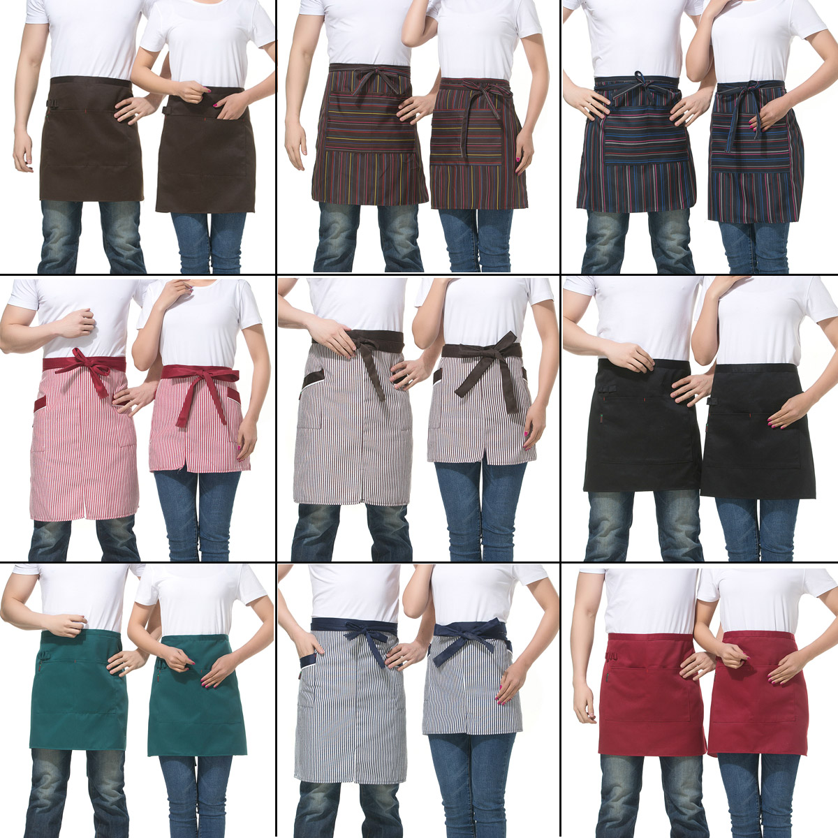 The hotel restaurant waiter aprons chef aprons korean fashion skirts work around the apron half skirt short paragraph