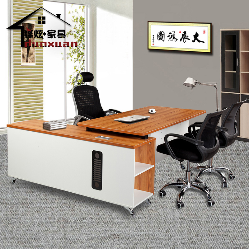 The managing director of the shanghai duo xuan office furniture manager when the plate head table yet simple and modern office furniture boss desk desk