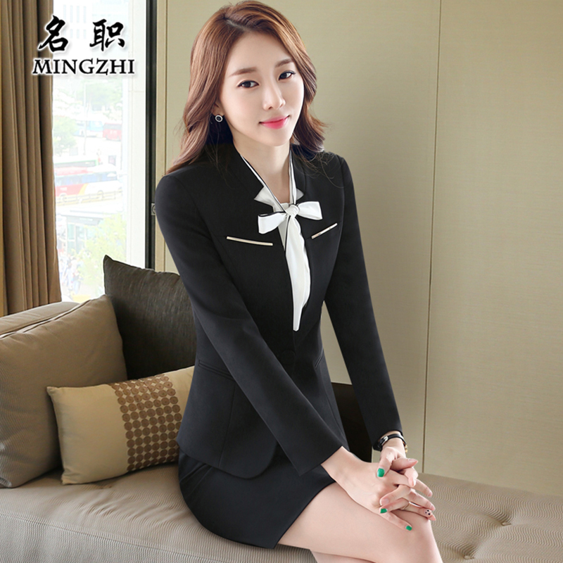 The name of the post 2016 autumn ol business wear overalls female suit temperament was thin black overalls tooling