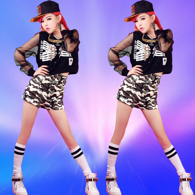 The new adult female student jin sequins jazz modern dance hip-hop dance performance clothing dance clothing dance costumes