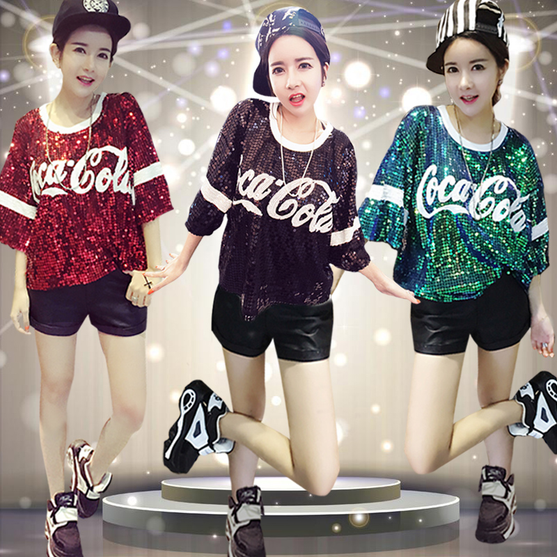 The new adult student of modern dance hip-hop clothing jazz performance clothing sequins jin dance costume dance costumes