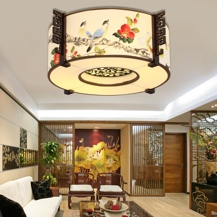 The new chinese modern minimalist bedroom ceiling light fixtures living room cozy restaurant round led ceiling lighting fixtures