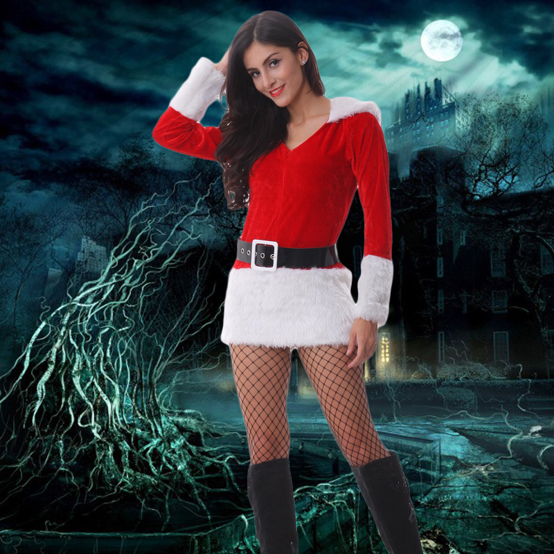 The new christmas santa claus costume cos bunny costumes sexy dress uniform temptation nightclub ds