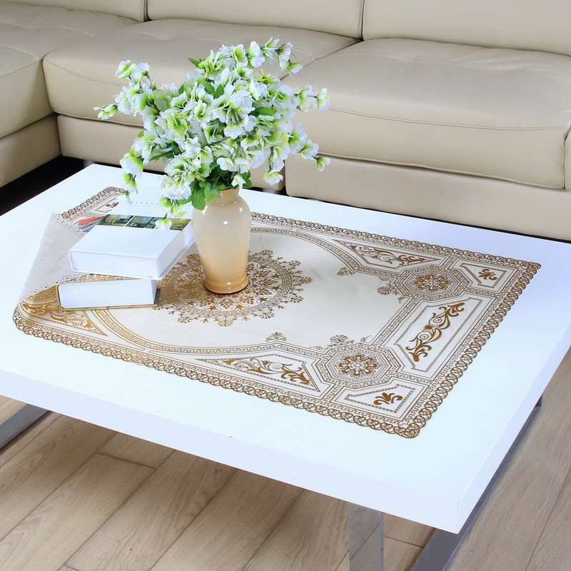 The new coffee table coffee table waterproof tablecloth tablecloth rectangular pvc tablecloth continental gilt openwork coffee table doily tablecloth tv cabinet