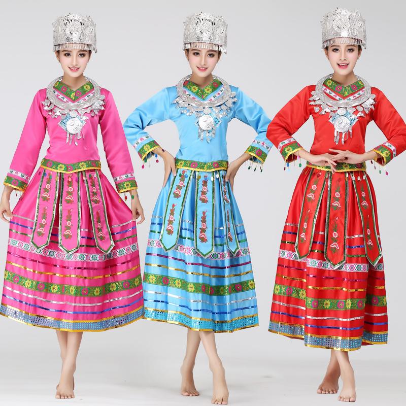 761415505 Buy The new dance costumes hmong clothing miao miao zhuang ethnic minority  women in yunnan xiangxi yao dance long sleeve in Cheap Price on Alibaba.com