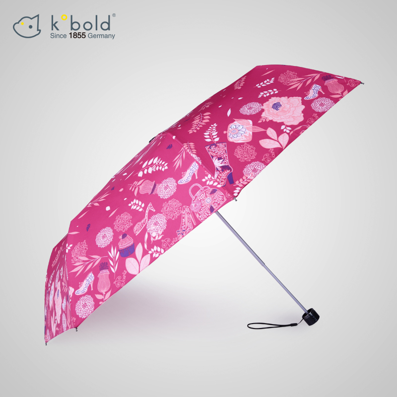 The new german kobold female sun umbrella three folding umbrella parasol umbrella rain or shine dual sun umbrellas color plastic