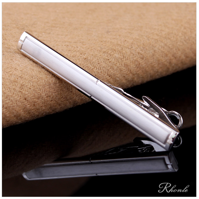 The new high-quality brushed satin special lapel tie men dress business tie clip gift box