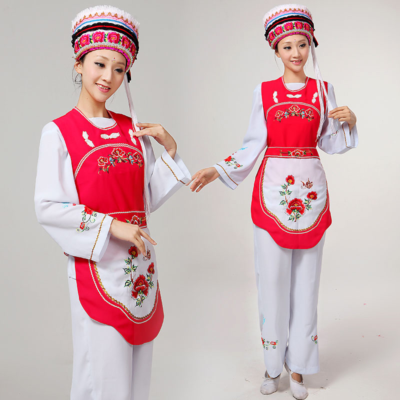 29e8ca578 Get Quotations · The new minority dancers opening dance clothes bright pink  fashion modern dance costume female costumes hmong