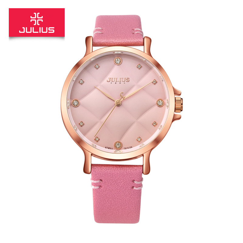 The new poly lee when julius korean fan fashion trend exquisite fashion diamond ladies watch quartz belt female form