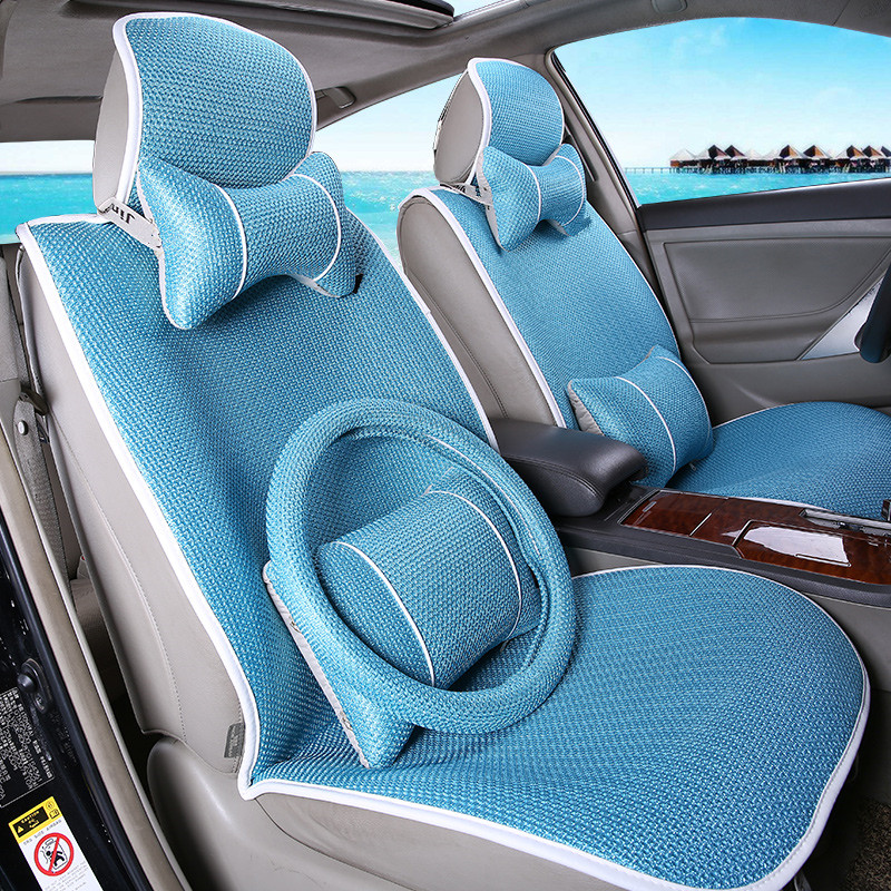 The new purple coffee color minimalist seasons ice silk car seat leather upholstery excelle hideo corolla tiggo cowin