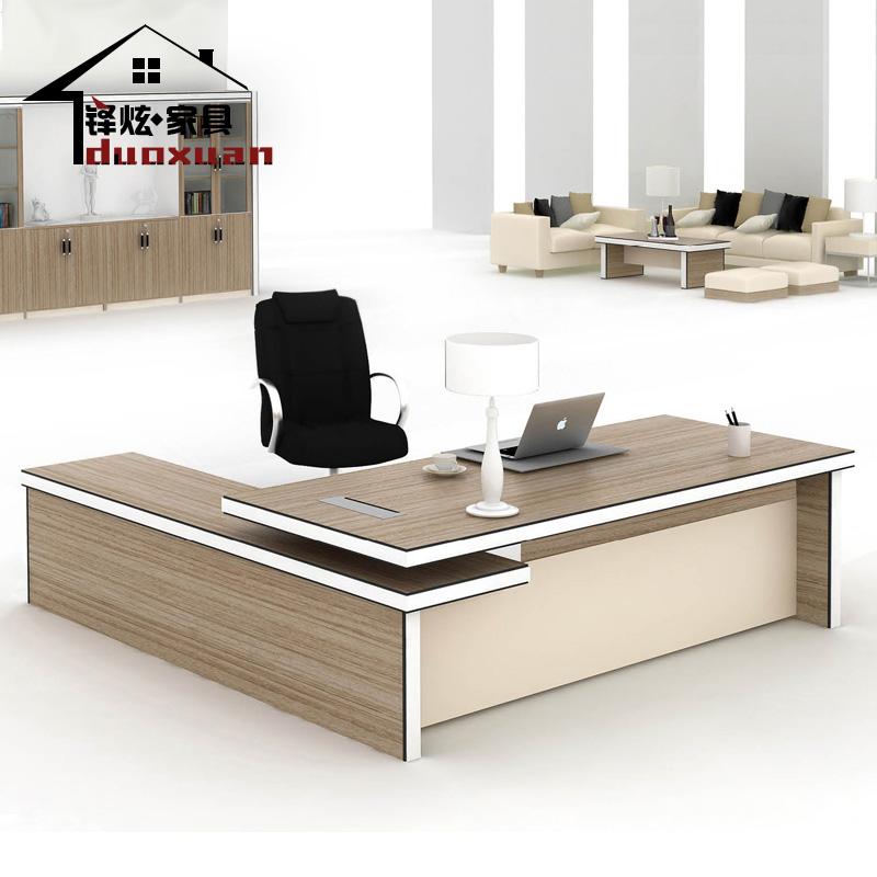 The new shanghai duo xuan office furniture simple and stylish desk desk desk supervisor boss desk manager desk factory direct