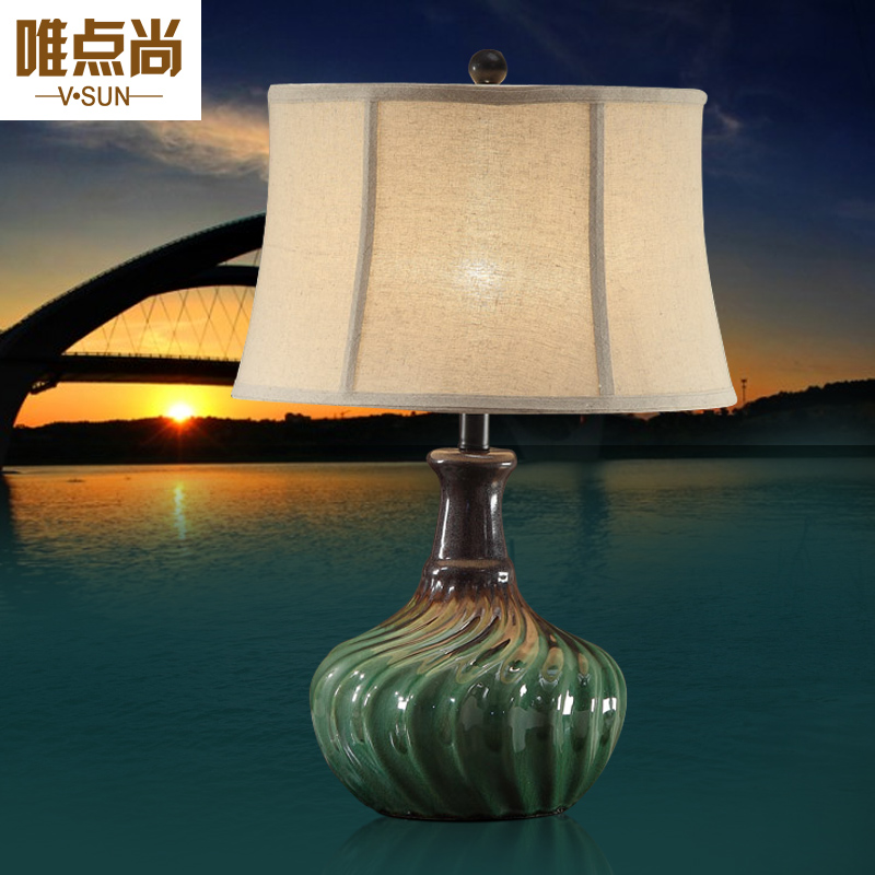 The only point still american ceramic table lamp bedroom bedside lamp european retro living room with large table lamp chinese study lamp