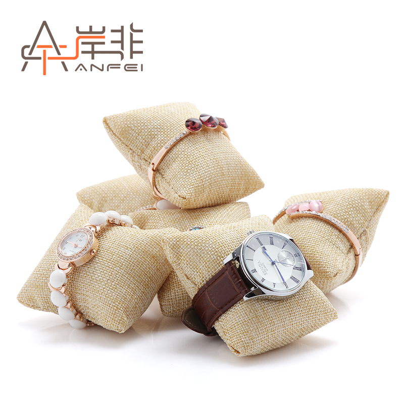 The other side of the non quality linen pillow watch bracelet jewelry counter display jewelry display single