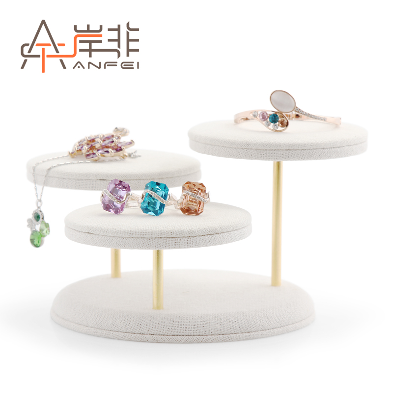 The other side of the non quality round ring jewelry display rack showcase jewelry counter display props necklace jewelry display rack creative